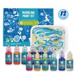 Комплект за рисуване, Мраморни картини, с 12 боички