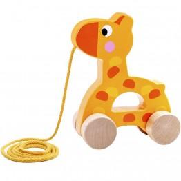 Дървена играчка за дърпане, Жирафче