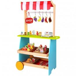 Детски дървен магазин за хранителни продукти
