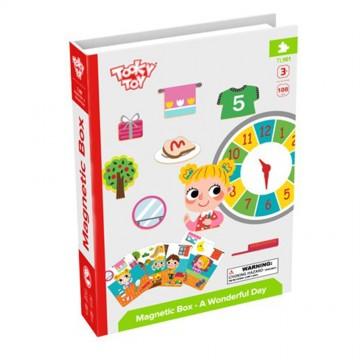 Магнитна книга, Магнитна образователна игра, Научи се да познаваш часовника и времето