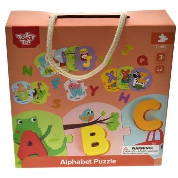 Аз уча английските букви - дървен образователен комплект