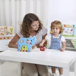 Дървена играчка за дърпане, Семейство слончета