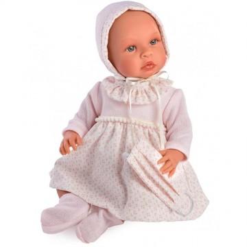 Кукла Лея, с розова рокля и маска