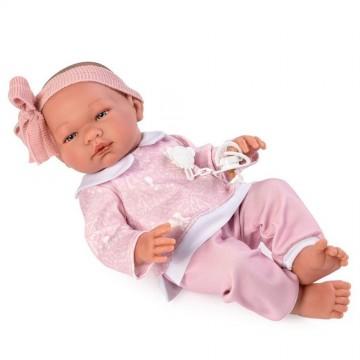 Кукла-бебе Мария, с розово костюмче
