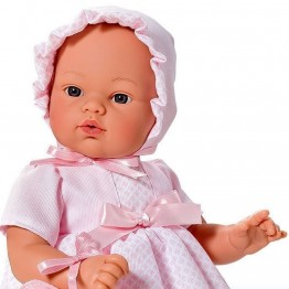 Кукла бебе, Коке с розова рокля и чантичка, Asi dolls