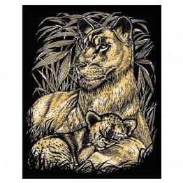 """Гравиране на златна основа """"Лъвове"""""""
