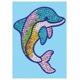 "Изкуство с пайети ""Делфинче"""
