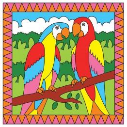 Рисувай по номера - Папагали/Тропически риби