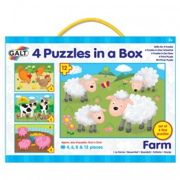 """4 пъзела в кутия """"Ферма"""""""