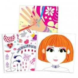 """Книжка """"Модерни  момичета"""" - дизайн на облекла, аксесоари, гримове и прически"""