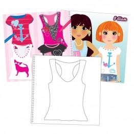 """Книжка """"Модерни  момичета"""" - дизайн на тениски"""