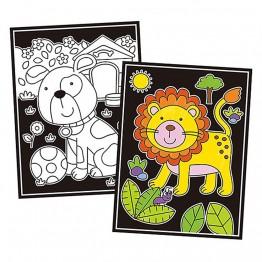 """Книжка за оцветяване от кадифе """"Животни"""""""