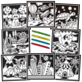 Книжка за път - Оцветяване с кадифе