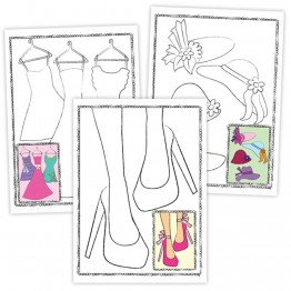 Книжка за оцветяване - Моден дизайнер