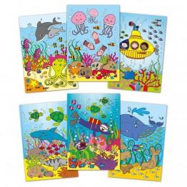 Книжка за рисуване с вода, Подводен свят