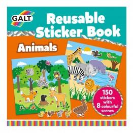 Книжка със стикери за многократна употрeба, Животни