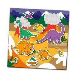 Книжка със стикери за многократна употрeба, Динозаври