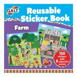 Книжка със стикери за многократна употрeба, Малката ферма