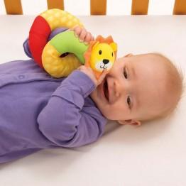 Бебешка дрънкалка за китка, Лъвче