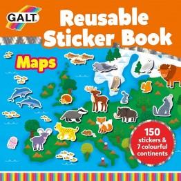 Книжка със стикери за многократна употреба, Карти, Животните по света