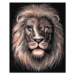"""Гравиране на медна  основа """"Лъв"""""""