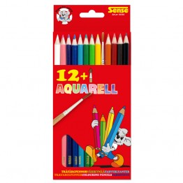Акварелни моливи + четка