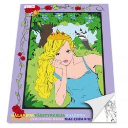 """Книжка за оцветяване """"Принцеси"""""""