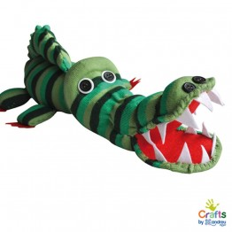 Направи Крокодил от чорапче