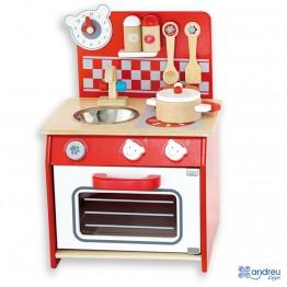 """Малка червена кухня с аксесоари """"Мече"""""""