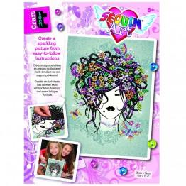 CRAFT TEEN, Изкуство с пайети, Flower girl