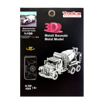 3D метален пъзел, Бетоновоз, Tronico