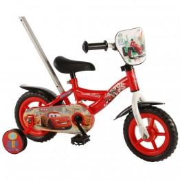 Велосипед с родителски контрол и помощни колела, Disney Cars, 10 инча