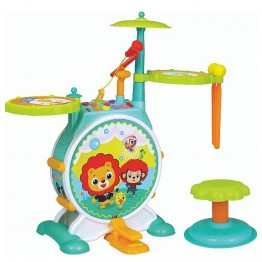 Барабани на стойка за деца, със столче