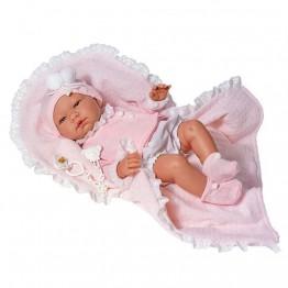 Дрехи за кукла, Жилетка, шапка и одеяло за кукла Мария