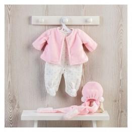 Дрехи за кукла, Розово палтенце и шапка за кукла Мария