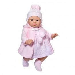 Дрехи за кукла, Розово палтенце и шапка за кукла Коке