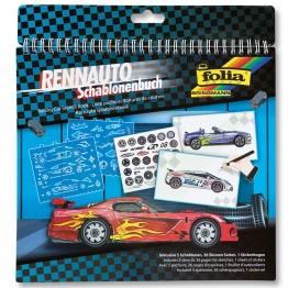 Книжка със стикери и шаблони, Състезателни коли