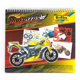 Книжка със стикери и шаблони, Мотори