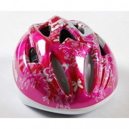 Детска каска за велосипед, Deluxe розова