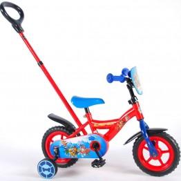 Велосипед с родителски контрол и помощни колела, Paw Patrol, 10 инча