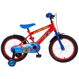 Детски велосипед с помощни колела Paw Patrol, 16 инча