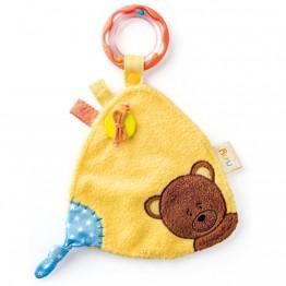 Бебешка играчка за гушкане с дрънкалка, Мечето Матахи