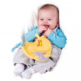 Бебешка играчка за гушкане с дрънкалка, Магаренцето Лаки