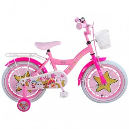 Детски велосипед с помощни колела LOL Surprise, 16 инча
