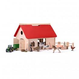 Дървена ферма с животни и трактор SIKU, Романо