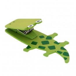 Дървен магнит с клипс - Крокодил