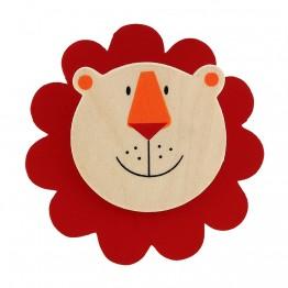 Дървен магнит с клипс - Лъвче