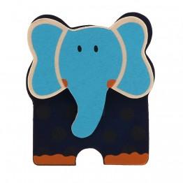 Дървен магнит с клипс - Слонче