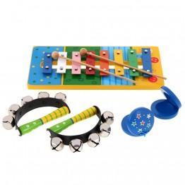 Комплект дървени музикални инструменти