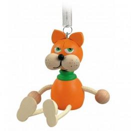 Фигурка на пружина - Коте -оранжева